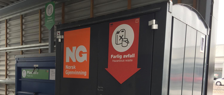 NG Miljøsafe farlig avfall Stopp kjøpesenter